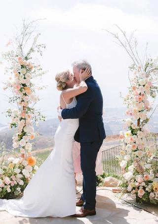 wedding arch looking over the ocean
