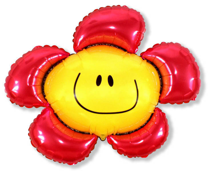 Red smile flower 7€
