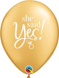She sayd yes