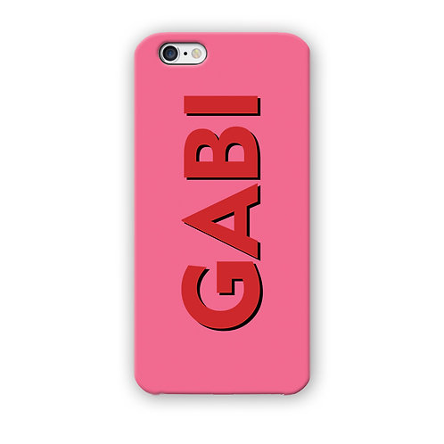 CAPINHA PERSONA DOUBLE TEXT PINK & RED