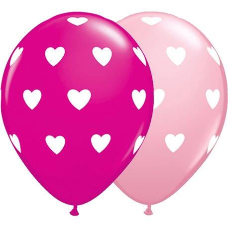 Heart pink mix