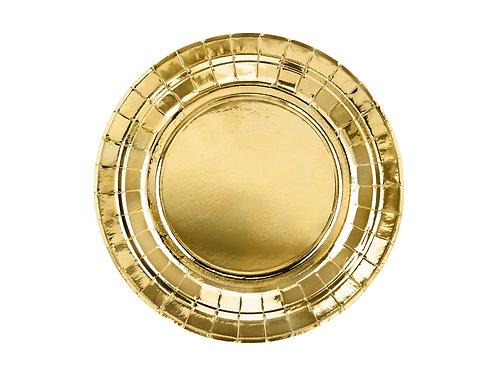 Gold Pabertaldrikud 18cm ja 23 cm