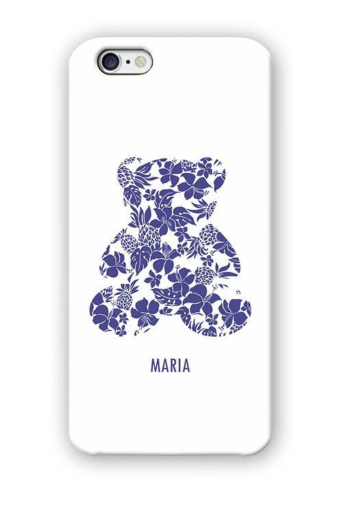 CAPINHA TEDDY BLUE FLOWERS