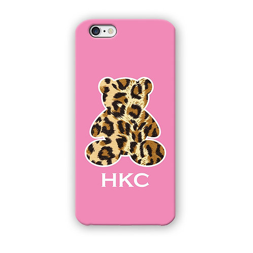 CAPINHA TEDDY ANIMAL PRINT ROSA