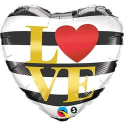 """Love 18"""" white black heart / 5€"""