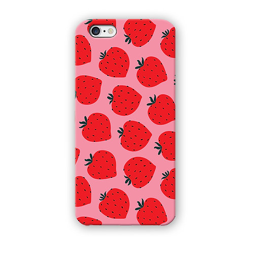 CAPINHA STRAWBERRY FUNDO ROSA