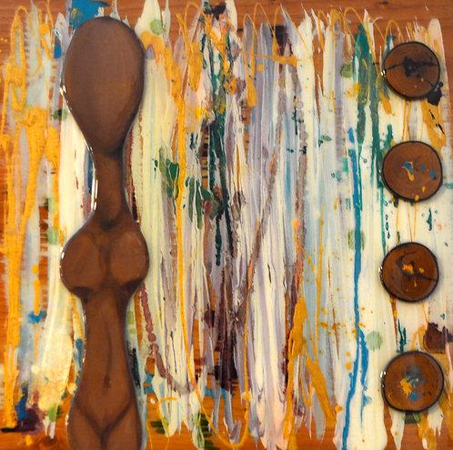 Abstract Ancestors 24 x 24 Original