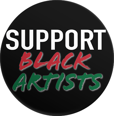 Support Black Artists Sticker