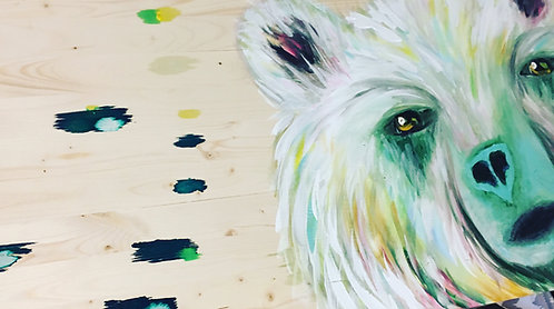 Arctic Bear Original Artwork 16x36
