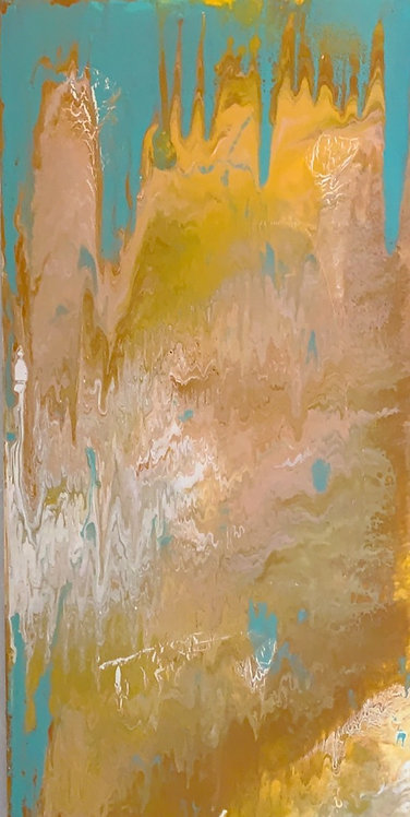 Golden Dreams Overcome Me 24x48