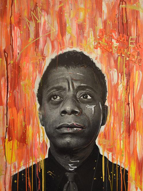 Homage to James Baldwin 30x40