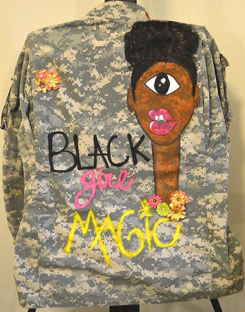 Black Girl Magic Army Jacket
