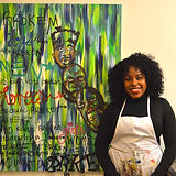 emerging artist, invest in art, art investor, black art, black entrepreneur, black artist, tasha webster, @tashatheartist, oversized art, wall decor
