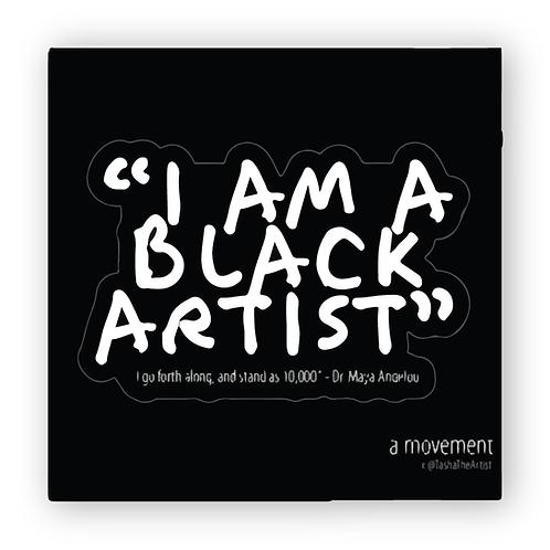I am a Black Artist Sticker