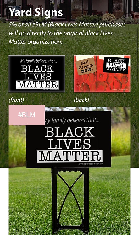 #BLM Yard Sign