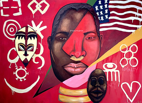 Strength of 2 Nations 36 x 48