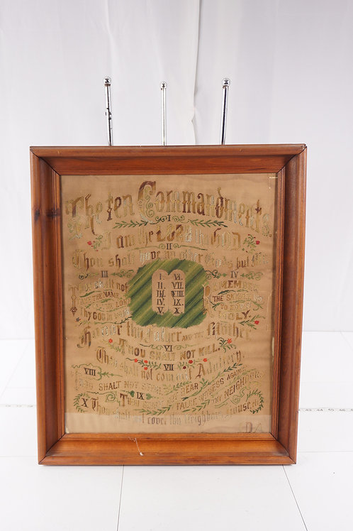 Early 1900s The Ten Commandment Embroidery Transfer