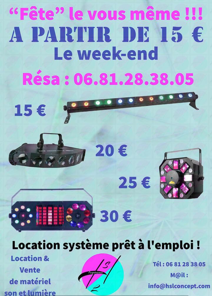 Location de jeux de lumières à partir de 15 €