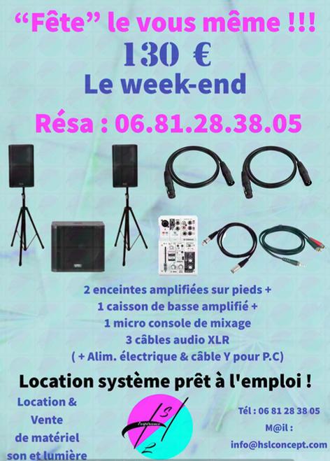 Location de systémes de sonorisation à 130 €