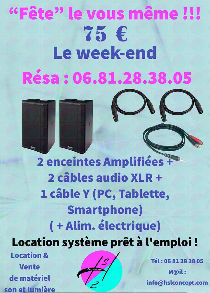 Location de systèmes sonorisation à partir de 75 €
