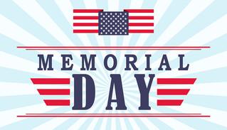 Memorial Day - May 27