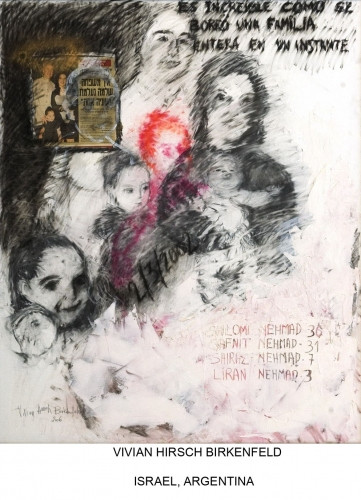 In Memoria- Nehmad Family, work in memory of my pupil Shiraz Nehmad and her parents, sister, aunt and causins who were killed in a terrorist attack in Jerusalem