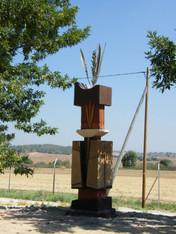 A mural and an environmental sculpturing,