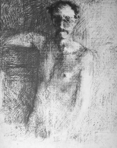 Self-portrait with eraser