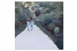 A walking couple