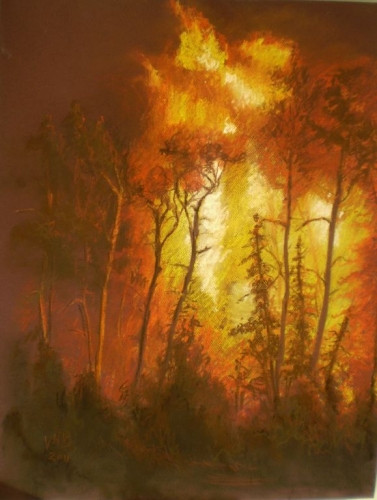 Carmel in fire