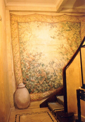 tapestry and vase
