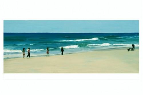 Walking at the beach