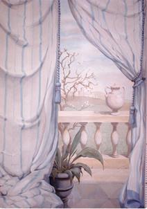 landscape through the courtains (detail)