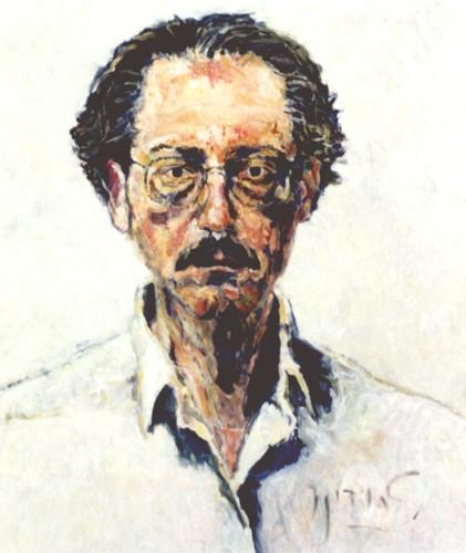 Passport self-portrait