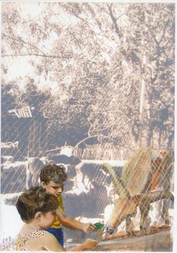Keren & Shai at the zoo
