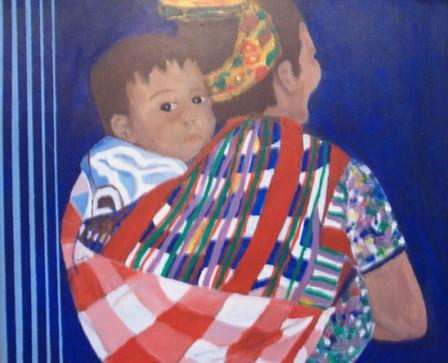 Guatemala women with child
