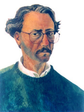 Self-portrait with green sweater