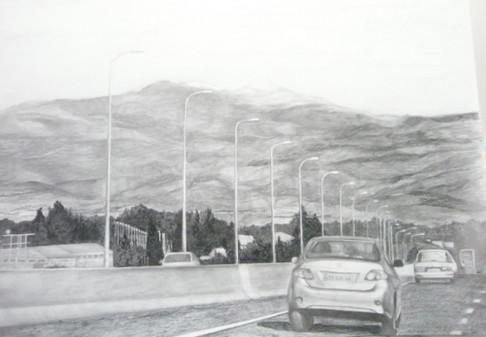 driving to Metula
