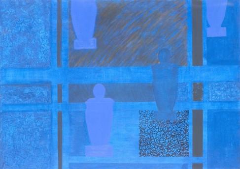 Monochrom- blue
