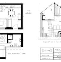 Plan et coupe studio