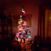 Noël blanc et bleu