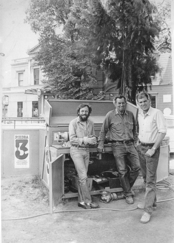 "Omar Estela, Pablo Larreta y Jorge Michel. 1984. ""Piedra x 3"""
