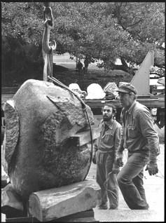 """Omar Estela y Jorge Michel. 1984. """"Piedra x 3"""""""