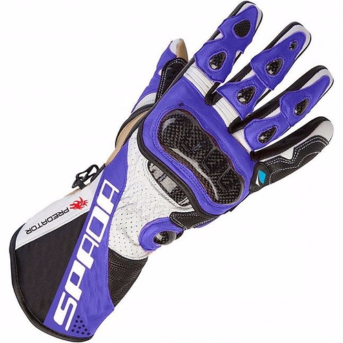 Spada Predator2 Leather Gloves Black/White/Blue