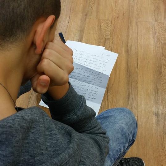 טקס קבלת מכתב שיקוף מעצים: סדנא לבני נוער