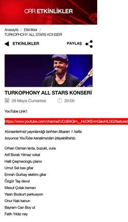CRR TURKOPHONY ALL STARS KONSER