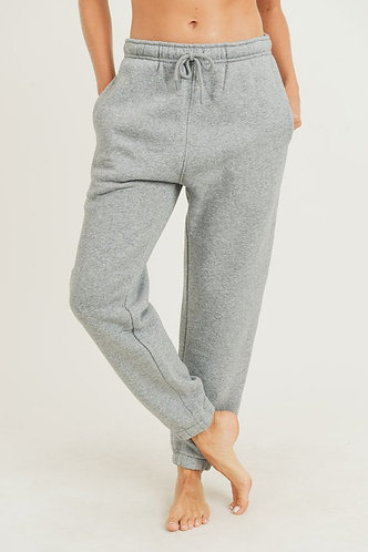 Perfect Fit High Waist Sweatpants in Grey