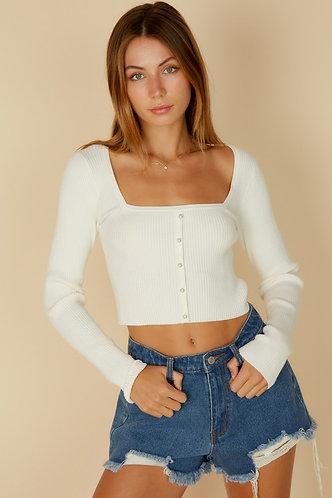 Mya Knit Sweater in Ivory