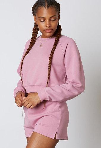 Comfy Crop Sweatshirt in Orchid