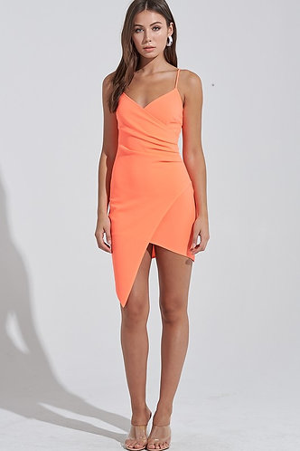Forever Yours Bodycon Dress in Neon Orange